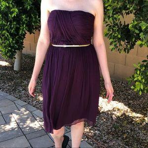 Dressy purple strapless dress